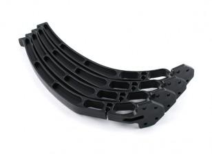 S500 fibra de vidrio de repuesto Quadcopter tren de aterrizaje de la pierna (Negro) (4pcs)