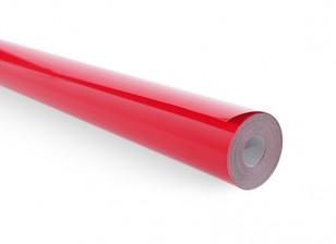 Cubrir sólido película rojo brillante (5mtr) 102