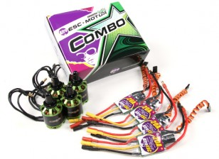 MultiStar y afro Combo Pack - 2216-800KV e igualó 20A ESC afro Conjunto de 4 CW / CCW