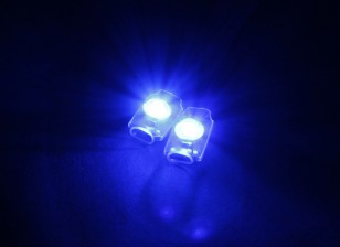 Turnigy super brillante 2 x Azul Add On LED de luz conjunto