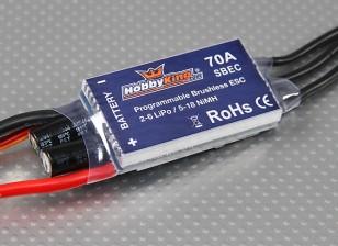 Controlador de velocidad sin escobillas HobbyKing 70A BlueSeries