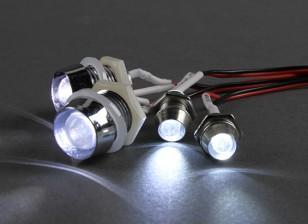 GT Potencia de 4 piezas super brillante LED de iluminación del escenario para los coches de RC