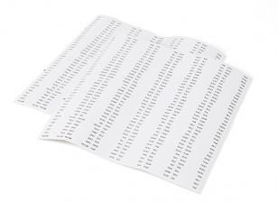 Servo plomo / etiquetas receptor Identitfication - Conjunto de 444