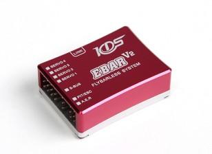 Sistema de Control de Vuelo KDS Ebar V2 Flybarless Con la tarjeta de programa