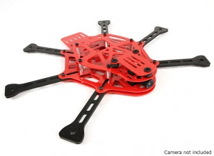 Juego de Estructura HobbyKing Thorax edición limitada ROJO Mini FPV aviones no tripulados (rojo)