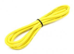 Turnigy alta calidad de silicona de alambre de 14 AWG 1m (amarillo)