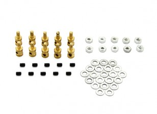 Vinculación de latón tapón para 1.3mm varillas de empuje (10 piezas)