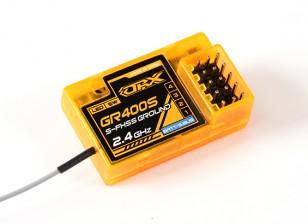 OrangeRx GR400S Futaba FHSS y S-FHSS 4 canales Receptor compatible Planta de 2,4 GHz con FS y SBus