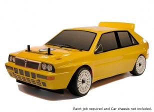 Leyendas de rally 1/10 Delta Integrale de Lancia carrocería del coche sin pintar Evo2 w / Adhesivos