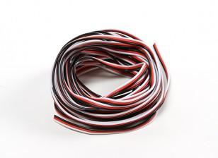 26 AWG alambre servo 5mtr (Rojo / Negro / Blanco)