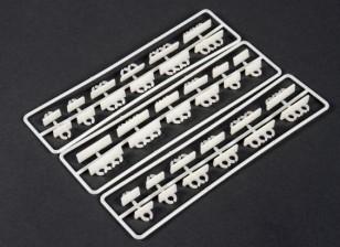 Montaje aéreo horizontal Conjunto ordenado de Clip (36 piezas)