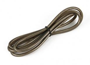 Turnigy Pure-silicona de alambre 12 AWG 1m (translúcido Negro)