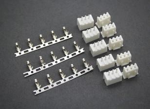 (2S) 3 Pin JST-XH equilibrador de conectores macho / hembra (5 pares)