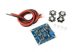 Frecuencia Quadcopter ajustable LED Set módulo de luz