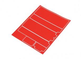Paneles decorativos TrackStar cubierta de batería para Standard 2S Estuche Metálico Rojo (1 unidad)