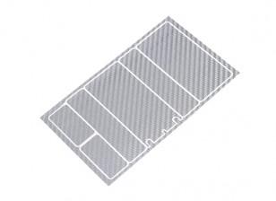 Paneles decorativos TrackStar cubierta de batería para Patrón 2S Chapo paquete Silver de carbono (1 PC)
