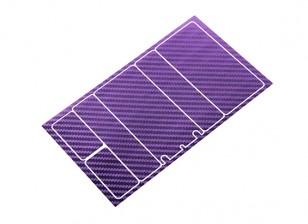 Paneles decorativos TrackStar cubierta de batería para Patrón 2S Chapo Paquete púrpura metálica de carbono (1 PC)