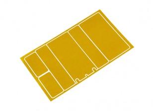 Paneles decorativos TrackStar cubierta de batería para 2S Chapo paquete metálico del color oro (1 unidad)