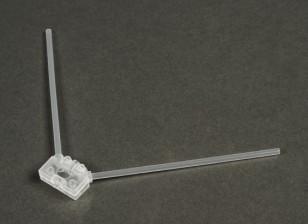Turnigy 2.4G antena de montaje para competir con aviones no tripulados (Claro)