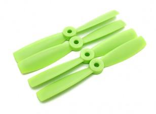DIATONE Bull Nose plástico Propulsores 5 x 4,5 (CW / CCW) (Verde) (2 pares)