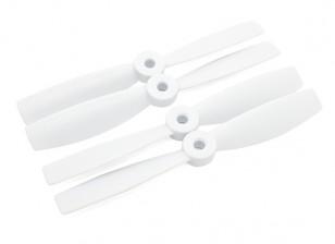 DIATONE Bull Nose plástico Propulsores 5 x 4,5 (CW / CCW) (Blanco) (2 pares)