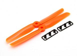 Gemfan 6030 Hélices CW / CCW Conjunto grueso Hub (naranja)