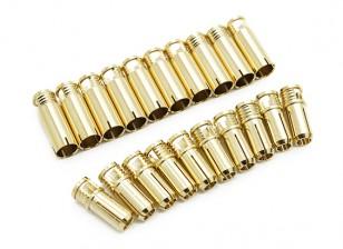 Conectores de bala 6mm Supra X de oro (10 pares)