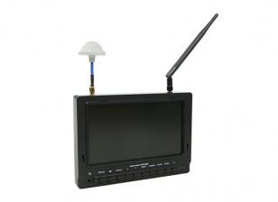 7 pulgadas de 800 x 480 40CH receptor de diversidad Sun legible FPV monitor w / DVR Fieldview 777SB (enchufe de los EEUU)