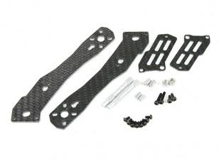 2.5mm Tarot La mitad de Carbono brazo trasero para TL280H La mitad de fibra de carbono multi-rotores