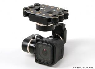 Quanum FY Mini 3D PROS 3 ejes cardán - GoPro Sesión Hero4 Compatible