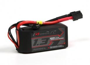 El grafeno Turnigy 1300mAh 3S 65C Li-Po paquete w / XT60