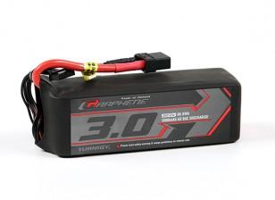 El grafeno Turnigy 3000mAh 6S 65C Lipo paquete w / XT90