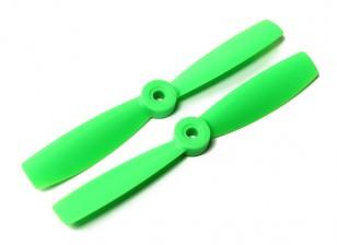 DYS Bull Nose plástico Propulsores T5045 (CW / CCW) (Verde) (2 unidades)