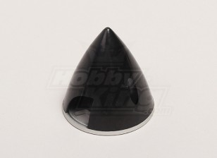 Spinner nylon con aleación de placa posterior 51mm Negro