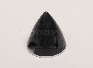 Spinner nylon con aleación de placa posterior 57mm Negro