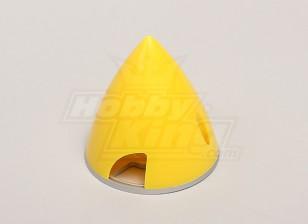 Spinner nylon con aleación de 63 mm de la placa posterior Amarillo
