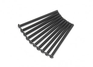 Ronda de metal Machine Head Tornillo hexagonal M3x45-10pcs / set