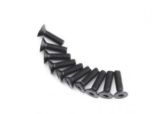 Plano del metal Machine Head Tornillo hexagonal M4x14-10pcs / set