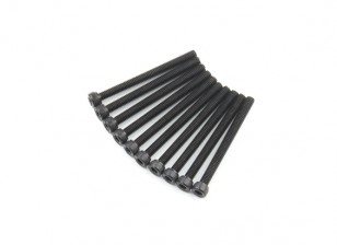 Zócalo de metal Machine Head Tornillo hexagonal M4x45-10pcs / set