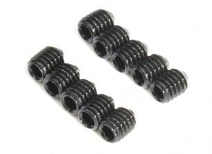 De metal tornillo de cabeza hendida M4x5-10pcs / set