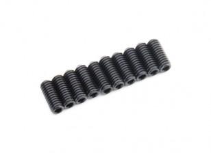 De metal tornillo de cabeza hendida M4x10-10pcs / set