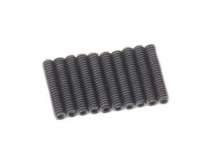 De metal tornillo de cabeza hendida M2x10-10pcs / set