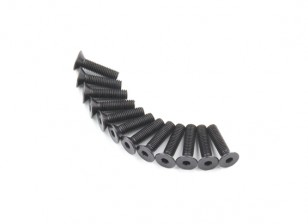 Plano del metal Machine Head Tornillo hexagonal M5x20-10pcs / set
