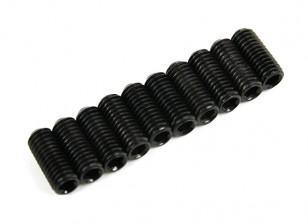 De metal tornillo de cabeza hendida M5x12-10pcs / set