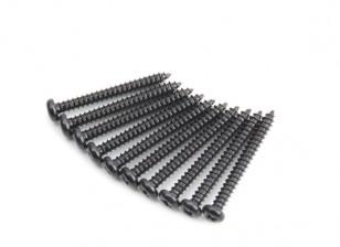 Ronda de la cabeza del metal Autorroscante agudo de la cola Phillip Tornillo M2.5x22-10pcs / set
