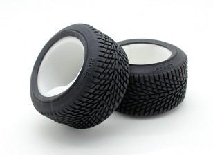 GPM Racing 1/16 Mini E Revo F / R radial de neumáticos de caucho w / Insertar (40 g) (Onroad) (1PR)