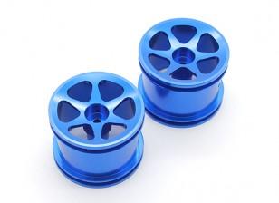 Llantas GPM Racing Asociada RC18T aleación estándar hundimiento de la superficie (6) Polos (azul) (1PR)