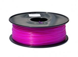 HobbyKing 3D Printer Filament 1.75mm PLA 1KG Spool (Translucent Purple)