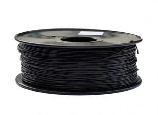 HobbyKing 3D policarbonato Filamento impresora o PC 1.75mm 1.0kg Carrete (Negro)