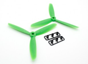 Conjunto verde GemFan 5045 GRP 3-Blade Propulsores CW / CCW (1 par)